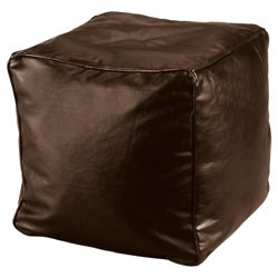 Faux Leather Bean Cube, Chocolate