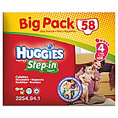 Huggies Step-In Big Pack Size 4 (x58)