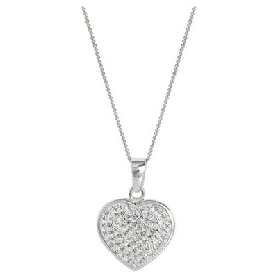 Sterling Silver Crystal Set Heart Pendant