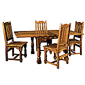 Alterton Furniture Granary 5 Piece Butterfly Dining Table Collection