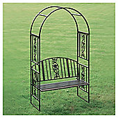 Greenhurst Steel Garden Arch with Bench Seat