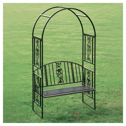 Buy Greenhurst Steel Garden Arch With Bench Seat From Our
