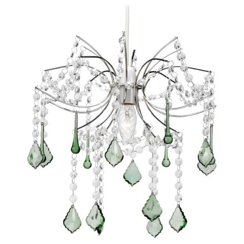 Tesco Lighting New Waterfall Pendant, Green