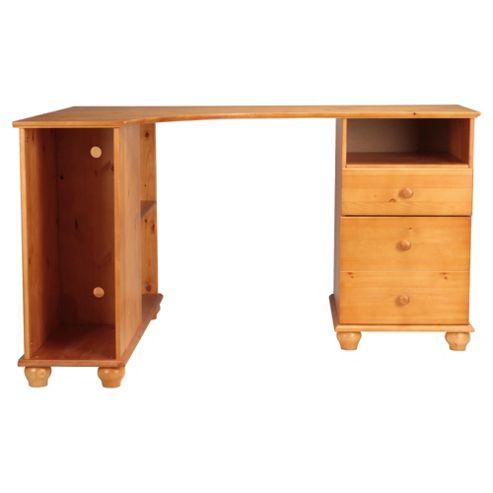 Vermont Pine Corner Desk with 2 Drawer