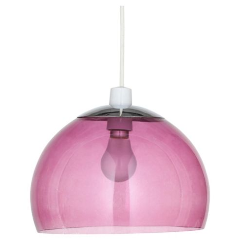 Tesco Lighting Coloured Glass Pendant, Plum
