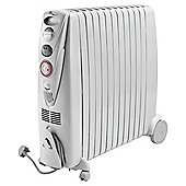 """De'Longhi Rapido G011230RTW Oil Filled Radiator, 3kW"""