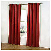 Tesco Plain Canvas Unlined Eyelet Curtains - Red
