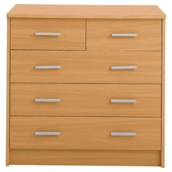 Compton 5 Drawer Chest, Beech-Effect
