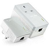 TP-LINK TL-PA4016P AV600 Passthrough 600Mbps Powerline Starter Kit Twin Pack