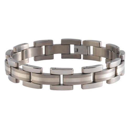Titanium Gents Link Bracelet