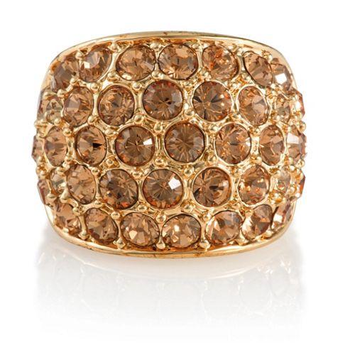 Pave Crystal Ring, Medium