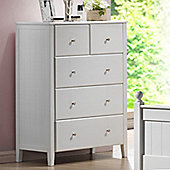 Hickory 5 Drawer Chest - White
