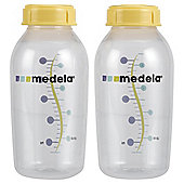 Medela 250ml Breastmilk Storage Bottles with Lids (x2)