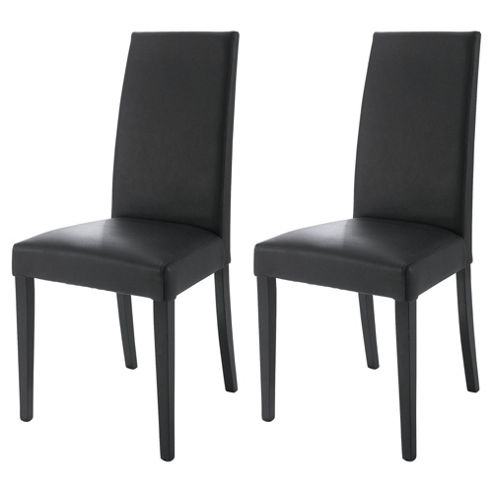 Lucca Pair Of Chairs Black Legs & Black Leather