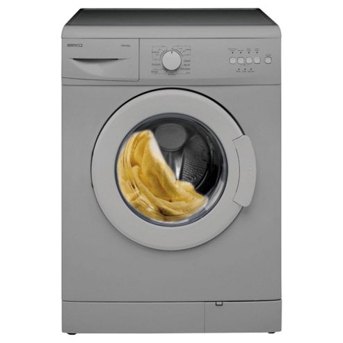 Beko WM6123S Washing Machine, 6kg Wash Load, 1200 RPM Spin, A+ Energy Rating. Silver