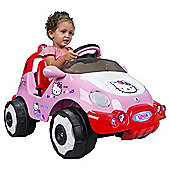 Injusa Hello Kitty Racing Car Battery Operated Ride-On