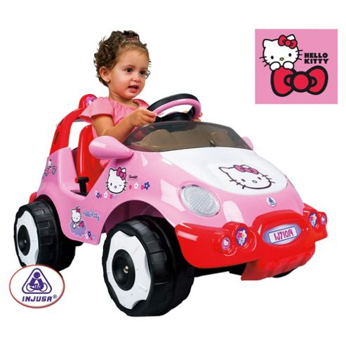 Hello Kitty 6V Ride-On Racing Car