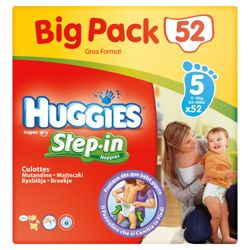 Huggies Step-In Big Pack Size 5 (x52)