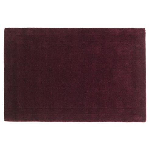 Tesco Rugs Wool Rug, Plum 100X150Cm