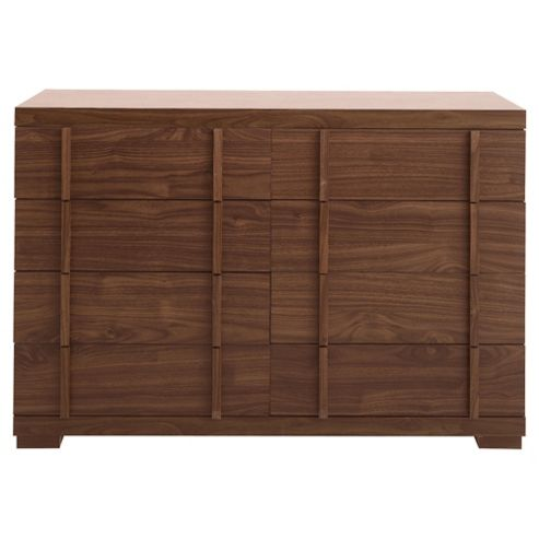 Brandon 8 Drawer Chest, Walnut Effect