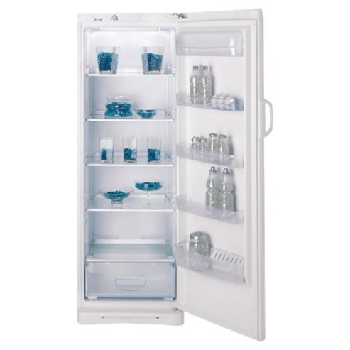 Indesit SAN400S silver tall larder fridge