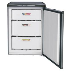 Hotpoint RZA34G Drawer Freezer, Freezer Capacity: 103 Litres, Energy Rating A, Width 59.8cm. Silver