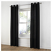 "Tesco Plain Canvas Eyelet Curtains W117xL229cm (46x90""), - Black"
