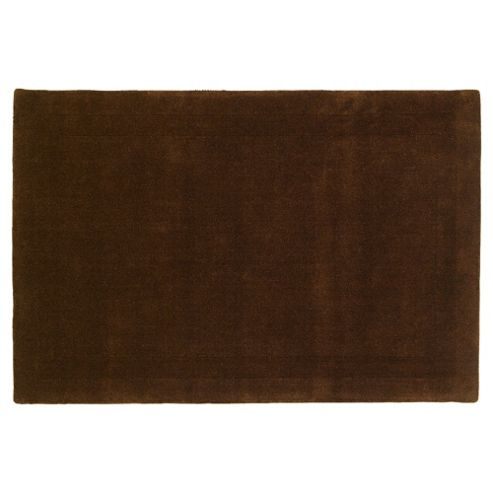 Tesco Rugs Wool Rug, Chocolate 100X150Cm