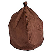 Large Faux Suede Beanbag, Chocolate