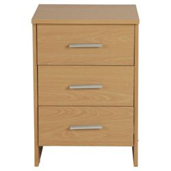 Compton Bedside Chest, Beech-Effect