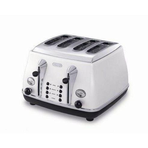 De'Longhi Icona CTO4003 4 Slice Toaster - White