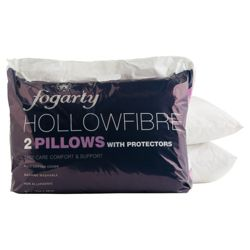 Fogarty Hollowfibre Pillow 2 Pack With Protectors