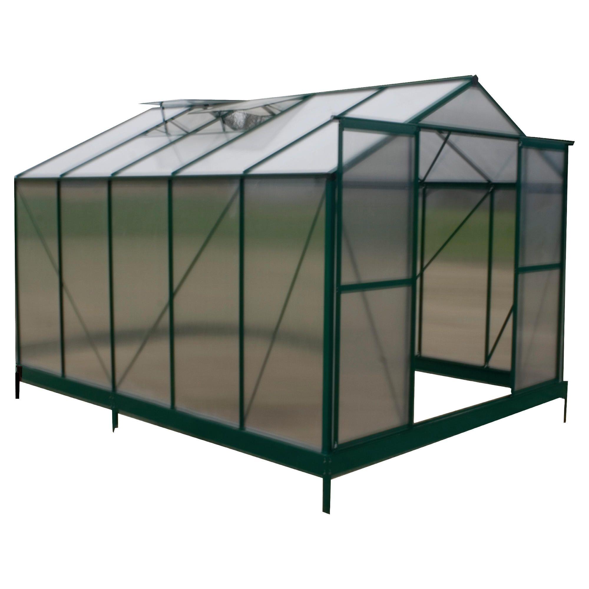8 x 10 Aluminium & Polycarb Greenhouse at Tescos Direct