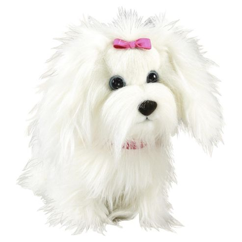 Animagic Fluffy Go Walkies White
