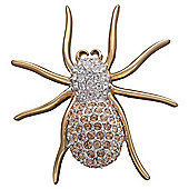 Pave Crystal Spider Brooch