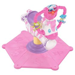 Fisher-Price Bounce & Spin Zebra Pink