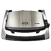 Breville VST025 3 Slice Sandwich Toaster and Panini Maker - Brushed Stainless Steel