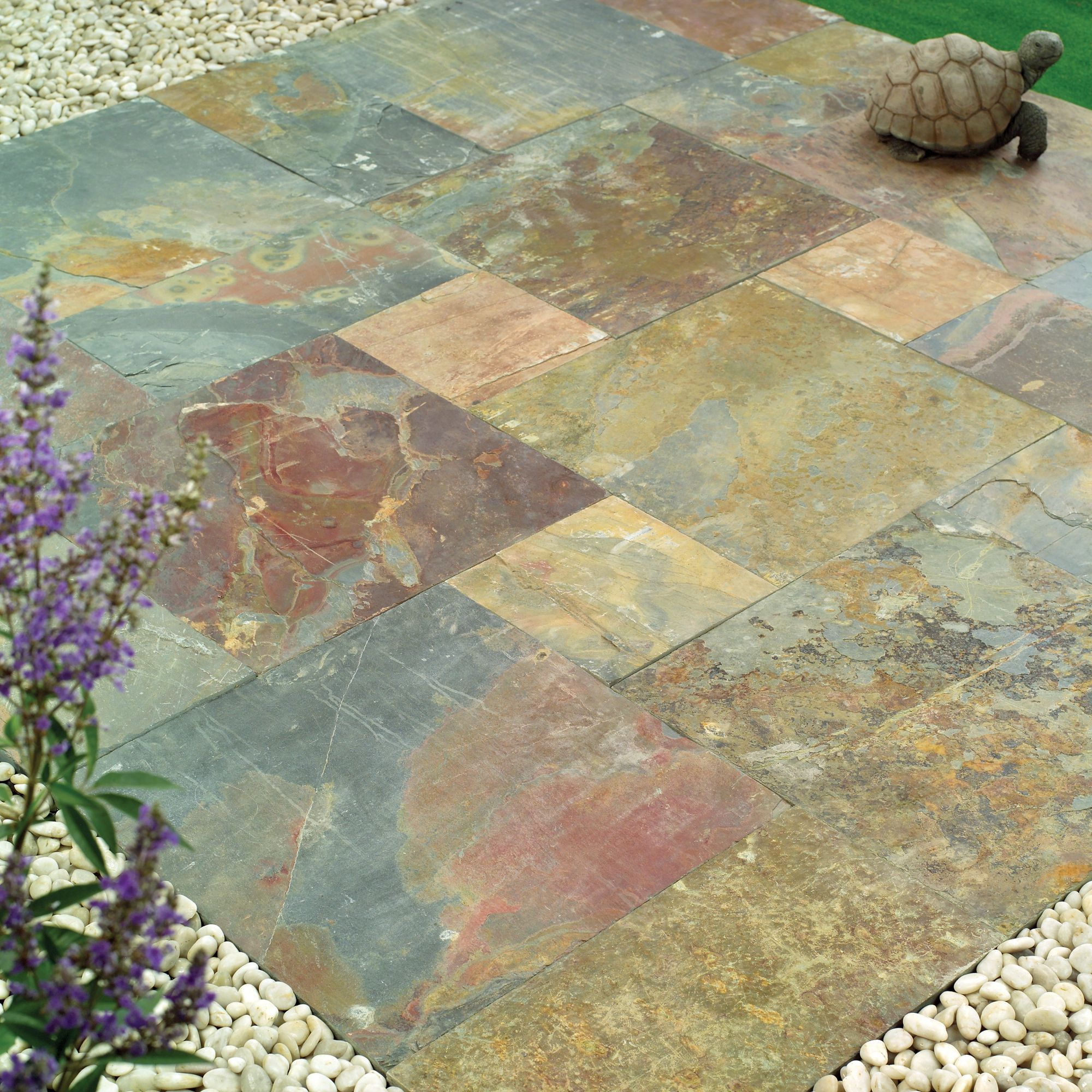 Natural Stone Slate Patio Kit 5.76m2 at Tesco Direct