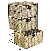 Seagrass 3 Drawer Tower
