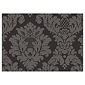 Arthouse Da Vinci Damask Black Wallpaper