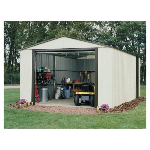 Buy rowlinson metal shed from our metal sheds range tesco for Garden shed tesco