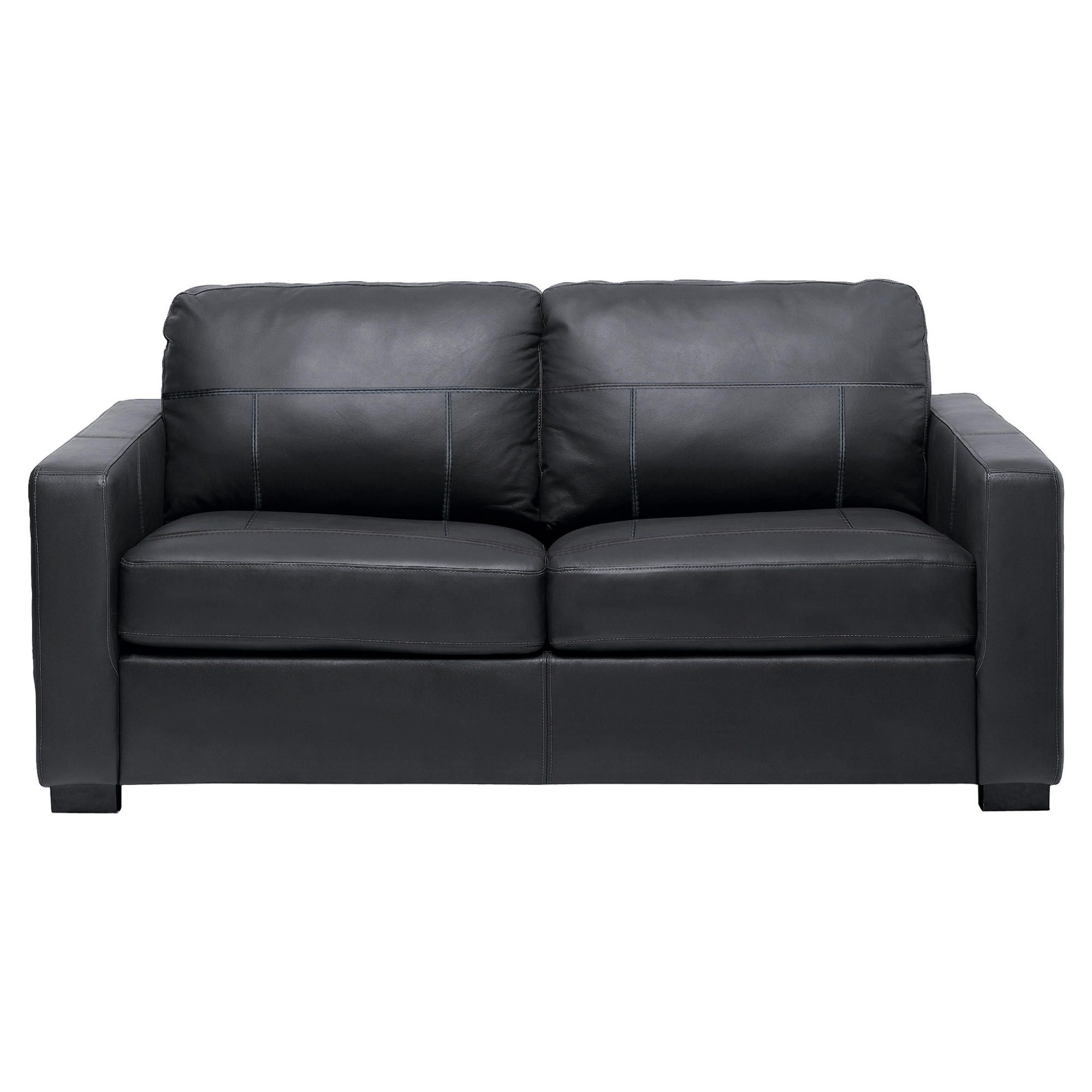 Colorado Leather Sofabed, Black at Tescos Direct