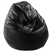 Tesco Faux Leather Bean Bag Pear, Black