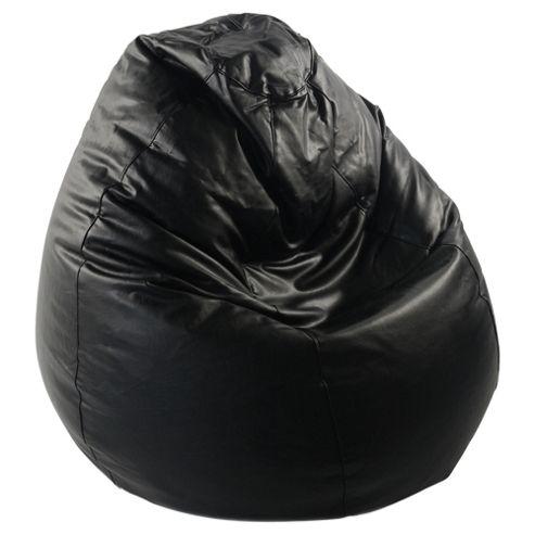 Tesco Faux Leather Bean Bag Pear, Black