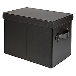 Leather Effect Foldable Storage Trunk, Brown