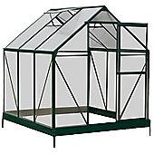 6 x 6 Aluminium & Polycarb Greenhouse
