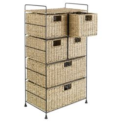 Seagrass 6 Drawer Tower