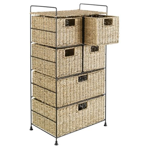 Tesco Seagrass 6 Drawer Tower