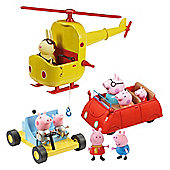 Peppa Pig Exclusive Multi Vehicle Set