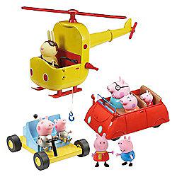 Peppa Pig Exclusive Multi Vehicle Set